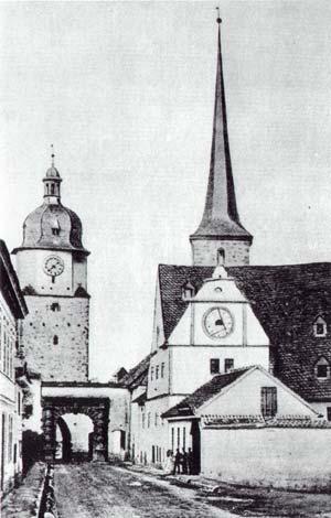 Die ehemalige Günthersmühle vor dem Riedtor