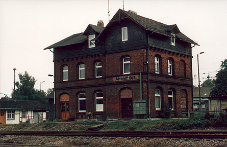 Der ehemalige Bahnhof Arnstadt-Ost